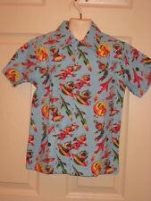 Boys Short Sleeve Button Front Shirt Astronaut Boy Girl Monkey Rocket 10-12 NEW
