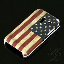 Samsung Galaxy Ace Plus S7500 Hard Case Hülle Motiv Etui Amerika Flagge Vintage