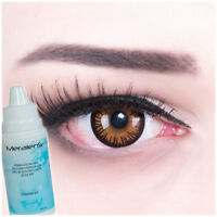 Farbige Kontaktlinsen Eternal Amber Fun braun Halloween Fasching GRATIS Behälter