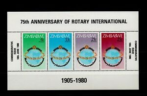ZIMBABWE. ANNIVERSARY OF THE ROTARY INTERNATIONAL 1980 MNH