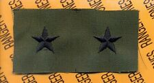 US ARMY Brigadier General BG 0-7 OD Green & Black rank patch set