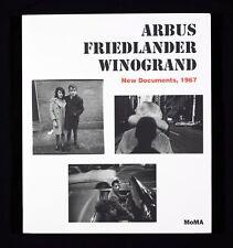 Lee Friedlander Arbus Winogrand Friedlander: New Documents 1967 Signed PhotoBook