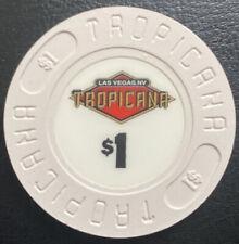 $1 Casino Chip Tropicana Hotel Casino 1992 Las Vegas Nevada Uncirculated
