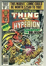 1980 Marvel Two in One-Thing vs Hyperion- #67- Passport to Oblivion-50 Cent-Fine