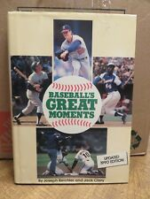 BASEBALL'S GREAT MOMENTS Hardcover Book (1990)