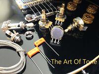 TAOT LES PAUL® Wiring Kit - LONG Shaft - CTS 450G 500K 5% POTS, Orange Drops