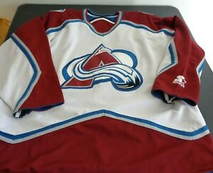 COLORADO AVALANCHE Hockey STARTER Reversible VINTAGE Jersey 2XL Free Ship NHL