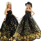 Handmade Evening Gown Party Clothes Royal Dress Wear Outfit For Barbie Doll Gift