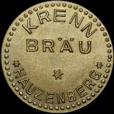 BIERMARKE: 25 Pfennig Flaschenpfand. KRENN BRÄU - HAUZENBERG / BAYERN.