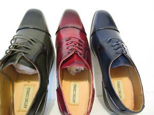 Antonio Cerrelli Mens 6782 Cap Toe Oxford Dress Shoes Olive Red Navy Sz 13 14 15
