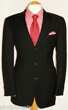 "MEN'S HUGO BOSS ANGELICO/PARMA BLACK DESIGNER SUIT UK 38L W34"" XL32"""