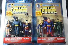 2 JUSTICE LEAGUE UNLIMITED 3 PACKS - Batman Superman Wonder Woman Green Arrow