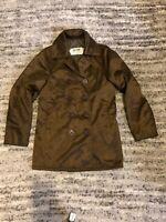 Schott NYC US 740N Pea Coat, Brown - Size 34 - Made in USA