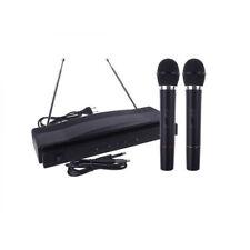 2x PROFI Funkmikrofon DJ PA Kabellos Wireless Karaoke drahtlos NEU