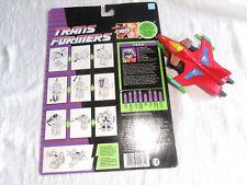 Rare Transformers G1 Skydive Predator nommé TRAP 100 % complet + carte