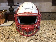 Riddell Revo SPEED FLEX Football Helmet White w Red Facemask Adult Large