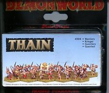 Demonworld Warlords of Thain Warriors (40) MINT 15mm Lead minis