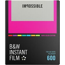 Impossible PRD4523 Black&White Glossy Instant Film for Polaroid 600 -Color Frame