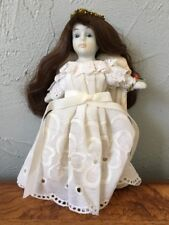 Vintage Bisque Porcelain Angel Doll Christmas Tree Topper Holiday Decor
