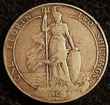 1902? Edward VII .925 Silver Florin Coin