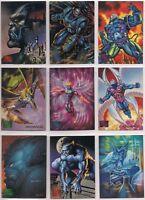 1995 Marvel Masterpieces X-Men Avengers You Pick the Base Card, Finish Your Set