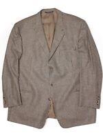 Coppley Mens Sport Coat 48R Brown Beige Houndstooth Check Zegna Wool Jacket