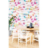 Rainbow Triangle removable wallpaper Self Adhesive Geometry Triangle Colorful