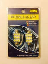 2x Bombillas Plafón 9 LED SMD 41-42mm Automóvil Coche Interior Matrícula OFERTA!