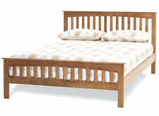 Hevea Honey Oak Finish Bed frame ALL SIZES 3ft 4ft 4ft6 5ft 6ft double king