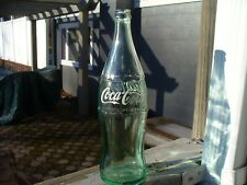 Vintage Coca-Cola Tall 26 oz. Green Glass Bottle (1 PT. 10 oz)  9-55