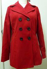 Autonomy Women's Peacoat Coat Jacket Size 14 Red UK FREEPOST
