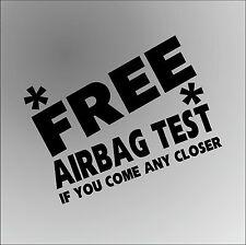 Free Airbag test FORD FOCUS drôle rude voiture fenêtre pare-chocs Graphique Décalque Autocollant