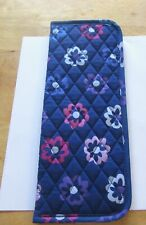 Vera Bradley Curling & Flat Iron Cover- ELLIE FLOWERS  quilted blue pink purple