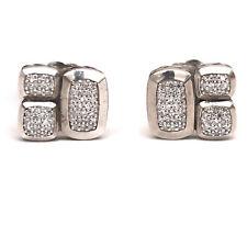New DAVID YURMAN Confetti Stud Earrings Sterling Silver & Diamond