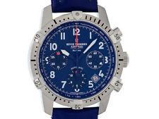 Revue Thommen Airspeed Xlarge comandante Acero Automatik chronograph cuero 41mm