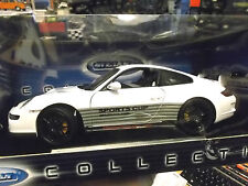 Porsche 911 (997) carrera gt3 RS blanco con negro Sports Cup Whit Welly 1:18