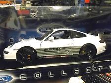 Porsche 911 (997) Carrera gt3 rs Blanc Avec Noir sports Cup dans les fichiers welly 1:18