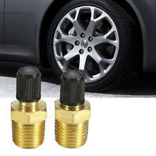 "2pcs 1/8"" NPT MPT Solid Brass Tire Tyre Air Compressor Tank Fill Valves Schrader"