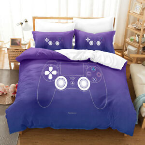 PS4 Controller Playstation4 Quilt Cover Purple Blue Doona Cover Gamer All Sizes
