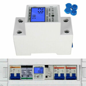 DDM15SD Energy Meter Digital LCD Single Phase 2 Wire KWh Meter DIN-Rail Electric