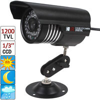 "Waterproof 1200TVL Color IR OSD  1/3"" Sony CCD CCTV Video Security Camera"