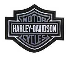 Harley-Davidson Silver Bar & Shield Patch 2XL 9 1/4'' x 7 11/16'' EMB302546