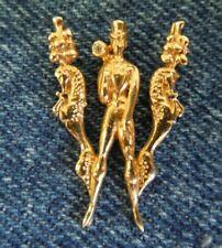 "14K  ""CFA""  ERTE ""W"" Initial  DECO  Diamond Yellow Gold Figural Pendant"