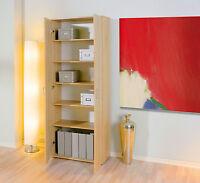 Armoire bibliothèque meuble de rangement bureau étagères modulables décor CHÊNE