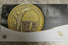 2015 AMERICAN $1 COIN & CURRENCY SET, REVERSE PROOF SACAGAWEA DOLLAR COIN