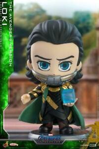Hot Toys Cosbaby Bobble-Head Loki Tesseract Space Stone Figure Avengers Endgame