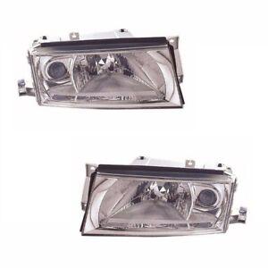 For Skoda Octavia Mk1 2001-7/2004 Headlights Headlamps 1 Pair O/S And N/s