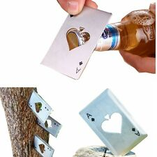 5pcs Metal Bottle Opener Creative Outdoor Poker Playing Cards Throwing Toy