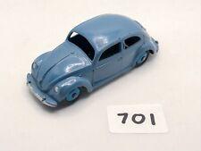 LOVELY DINKY TOYS # 181 VOLKSWAGEN VW BEETLE OVAL DIECAST CAR RAF BLUE HUBS 1956