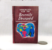 Handbook of the Recently Deceased 1:3 Scale Readable Book American Girl Size